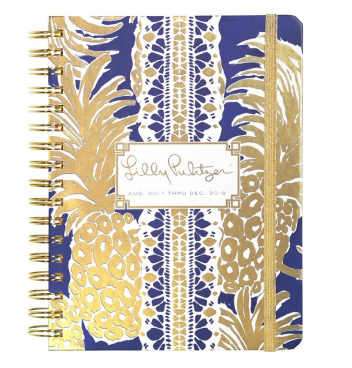 Lilly Pulitzer Golden Pineapples Agenda